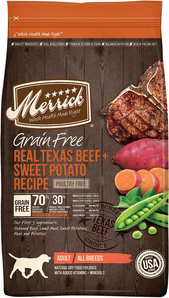 Merrick Pet Food Grain-Free Real Texas Beef + Sweet Potato Recipe