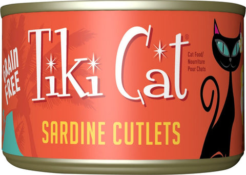 Tiki Cat Tahitian Grill Sardine Cutlets Grain-Free Canned Cat Food - 8 pk/6 oz cans