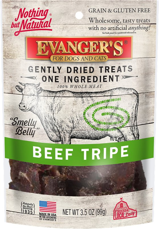 Evanger's Nothing But Natural Gently Dried Beef Tripe Dog & Cat Treats 3.5 oz