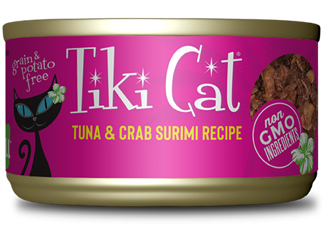 Tiki Cat Lanai Grill - Tuna in Crab Surimi Consomme Grain-Free Canned Cat Food- 8 pk/6 oz cans
