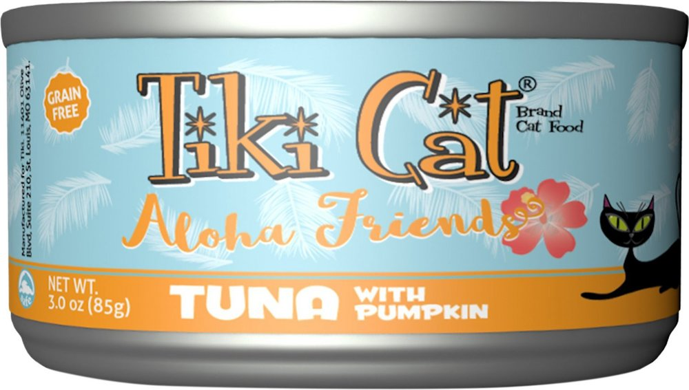 Tiki Cat Aloha Friends Tuna with Pumpkin Grain-Free Canned Cat Food - 12 pk/3 oz cans