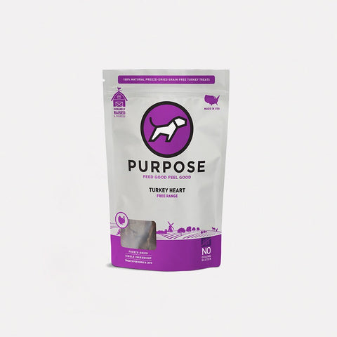 purpose freeze dried turkey heart dog treat 3oz