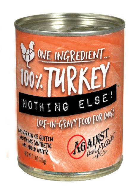 Against the Grain Nothing Else 100% Turkey Canned Dog Food - 12 pk/11 oz