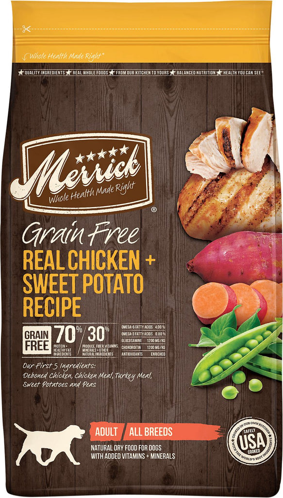 Merrick Pet Food Grain-Free Real Turkey + Sweet Potato Recipe