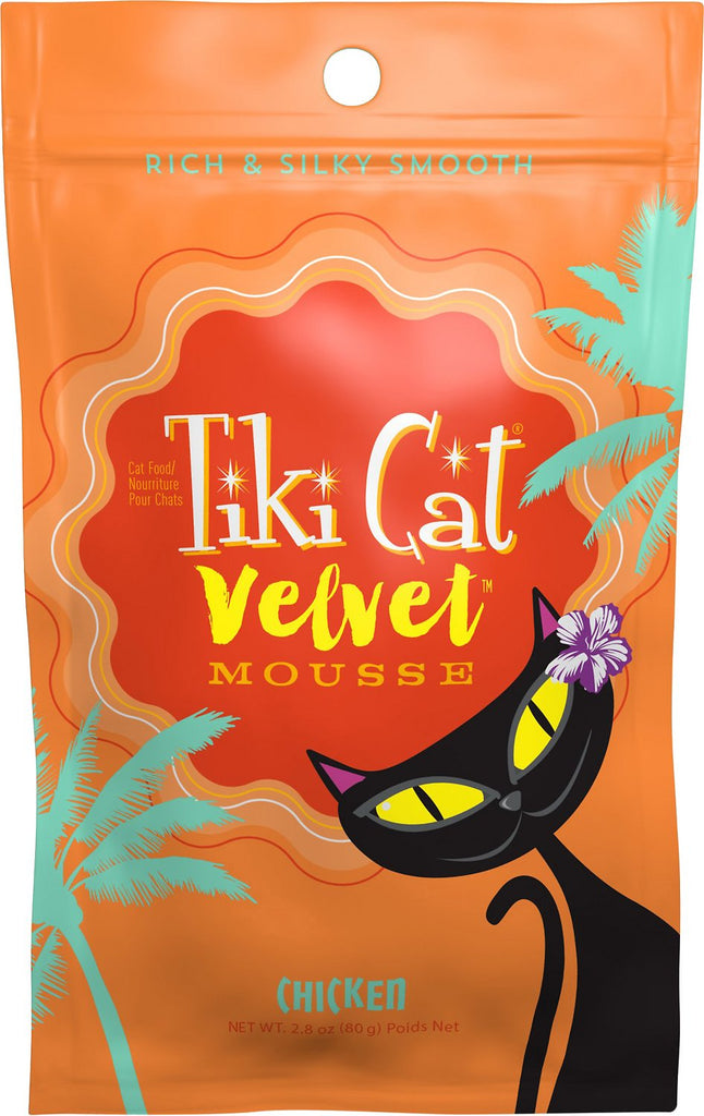 Tiki Cat Velvet Mousse Chicken Grain-Free Wet Cat Food- 12 pk/2.8 oz pouches