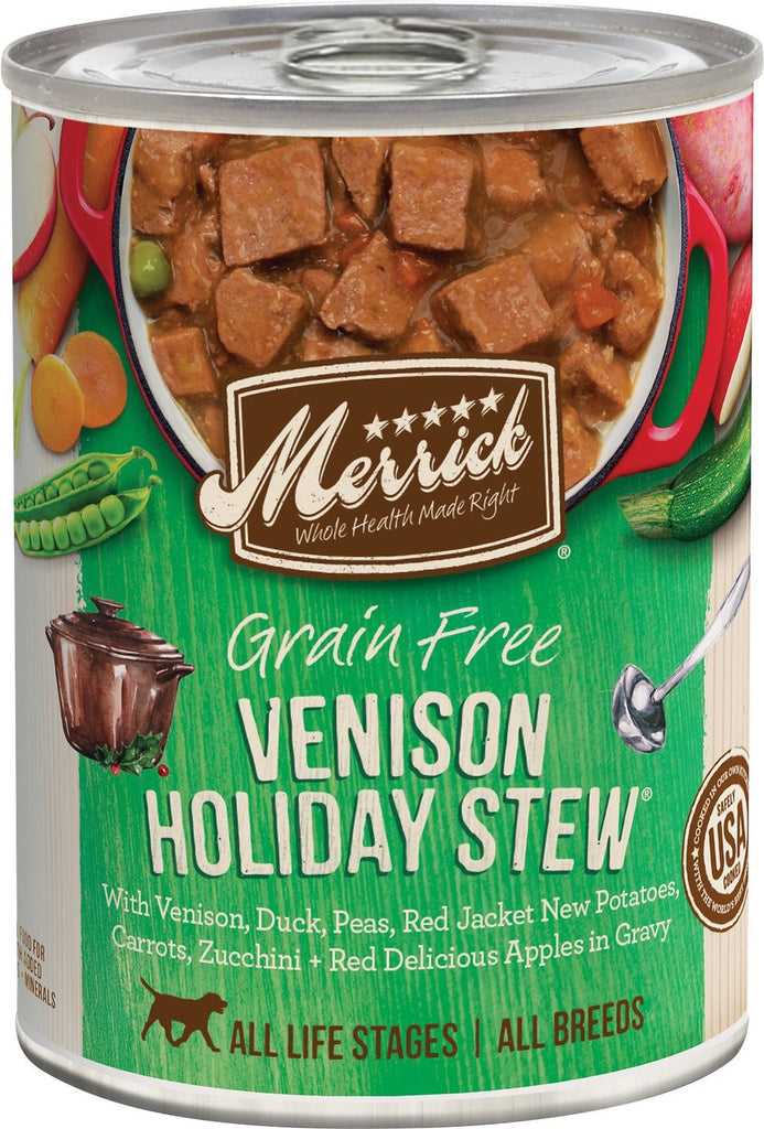 Merrick Pet Food Classic Grain-Free Venison Holiday Stew Canned Food 12 pk/12.7 oz