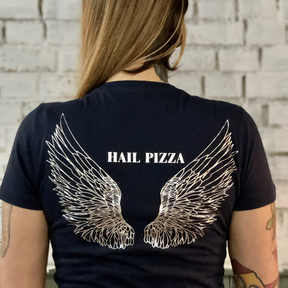 Hail Pizza T-Shirt with Silver Foil