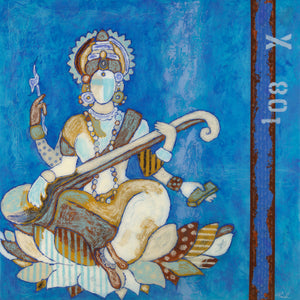 Blue Saraswati ~ SOLD
