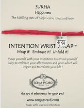Load image into Gallery viewer, Sukha Wrist Wrap - Happiness
