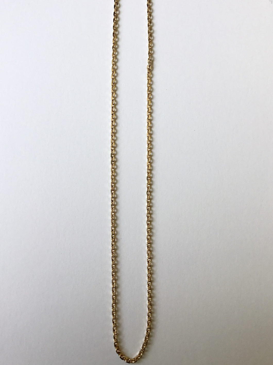 Solid Gold Diamond Cut Cable Chain
