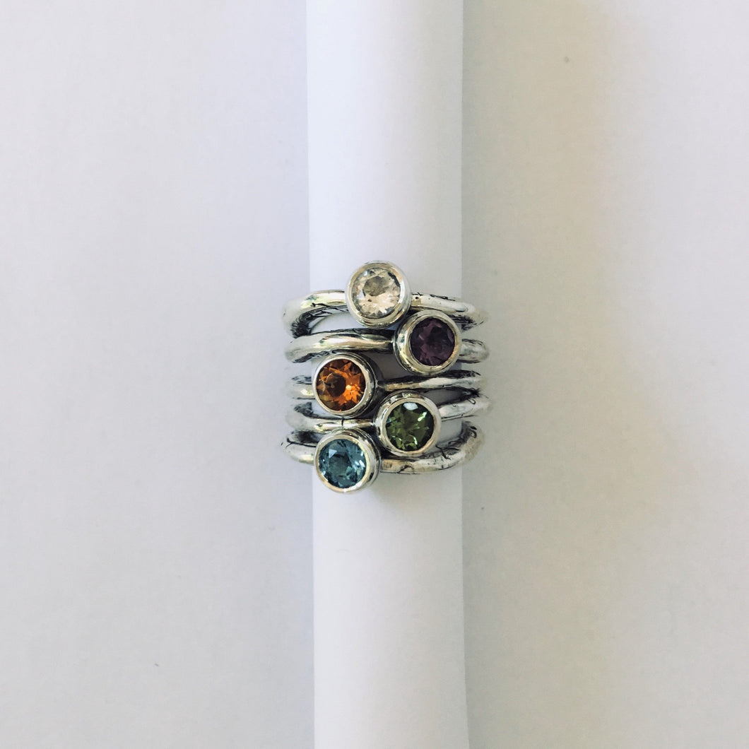 Lords and Goddesses of the Rings with Gem Stone
