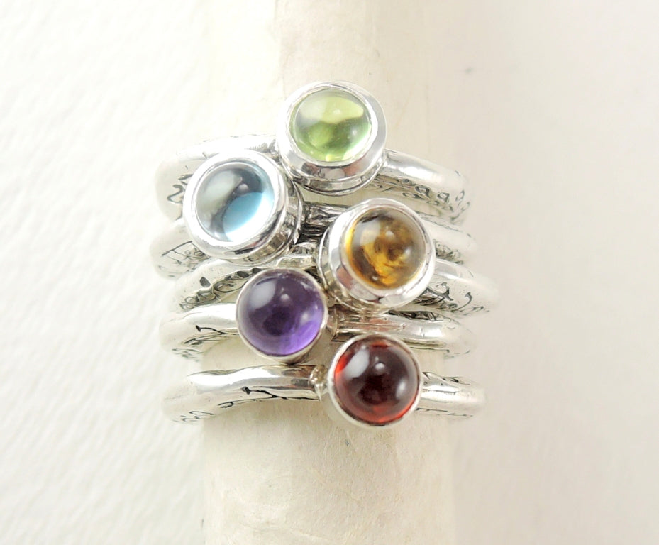 Lords and Goddesses of the Rings with Cabachon Gem Stone