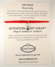 Load image into Gallery viewer, Om Drop Wrist Wrap - Divine Unity