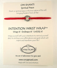 Load image into Gallery viewer, Om Shanti Wrist Wrap - Spiritual Peace
