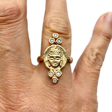 Load image into Gallery viewer, Triple Diamond Buddha Ring