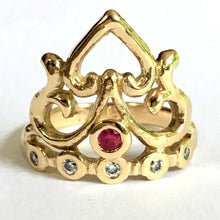 Load image into Gallery viewer, Shakti Love Crown Ring