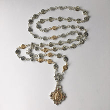 Load image into Gallery viewer, Silver and Gold 54 Element Buddha Mala