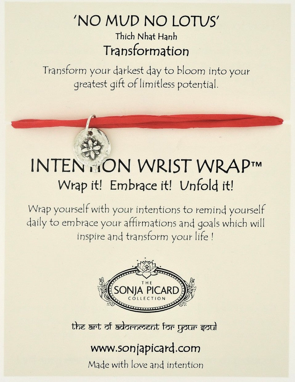 No Mud No Lotus Wrist Wrap - Transformation