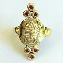 Load image into Gallery viewer, Buddha Ring w/ Rubies