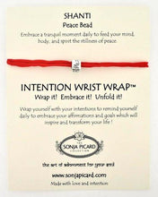 Load image into Gallery viewer, Shanti Peace Bead Wrist Wrap - Peace