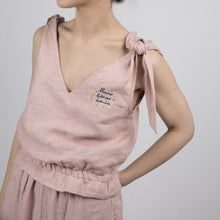 Load image into Gallery viewer, Ash rose colored nightwear with embroidery
