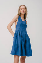 Load image into Gallery viewer, Aqua fresh nightdress with embroidery