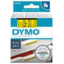 Nastro D1 458080 - 19 mm x 7 mt - nero/giallo - Dymo