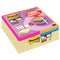 Post-It Super Sticky - 47,6x47,6 mm - colori assortiti - Post-It - promo pack 18 + 6 pezzi