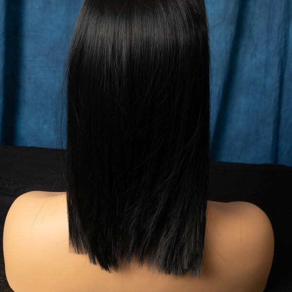 "Black Straight 14""  1B Color Hair"