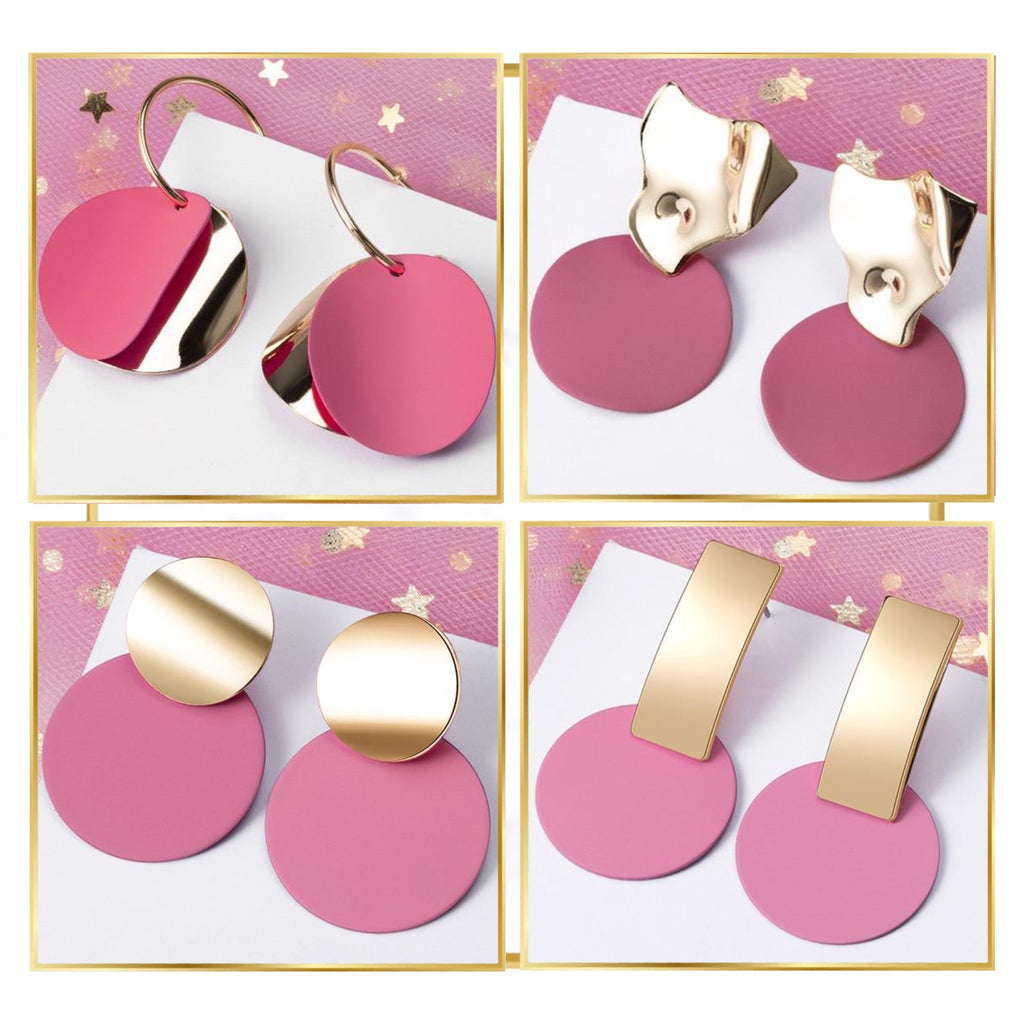 Minimalist Pink Drop Earring Collection