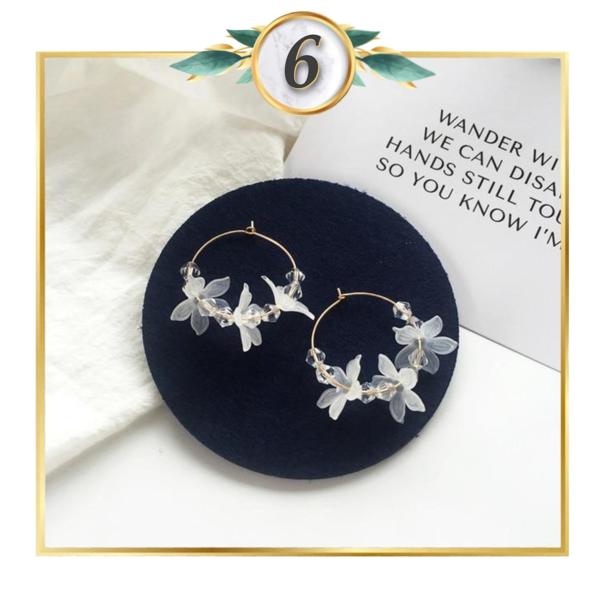 Minimalist White Floral Earring Collection