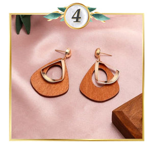Gold-Touch Drop Earrings Collection