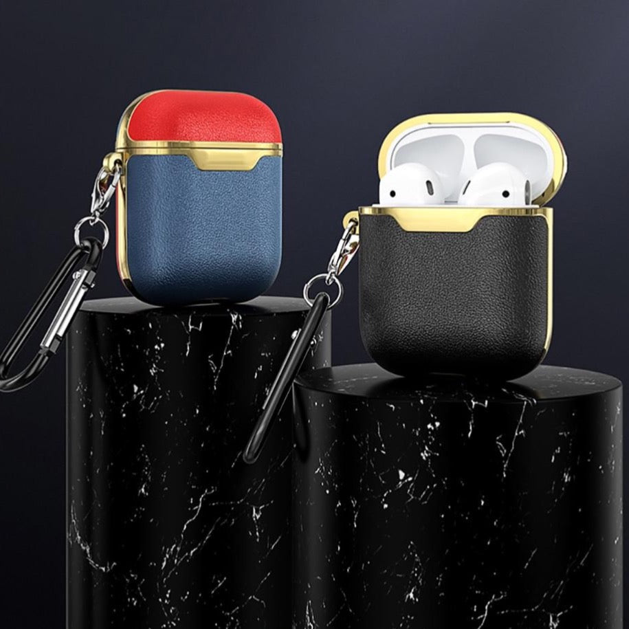 Gold-Touch Leather AirPods Case
