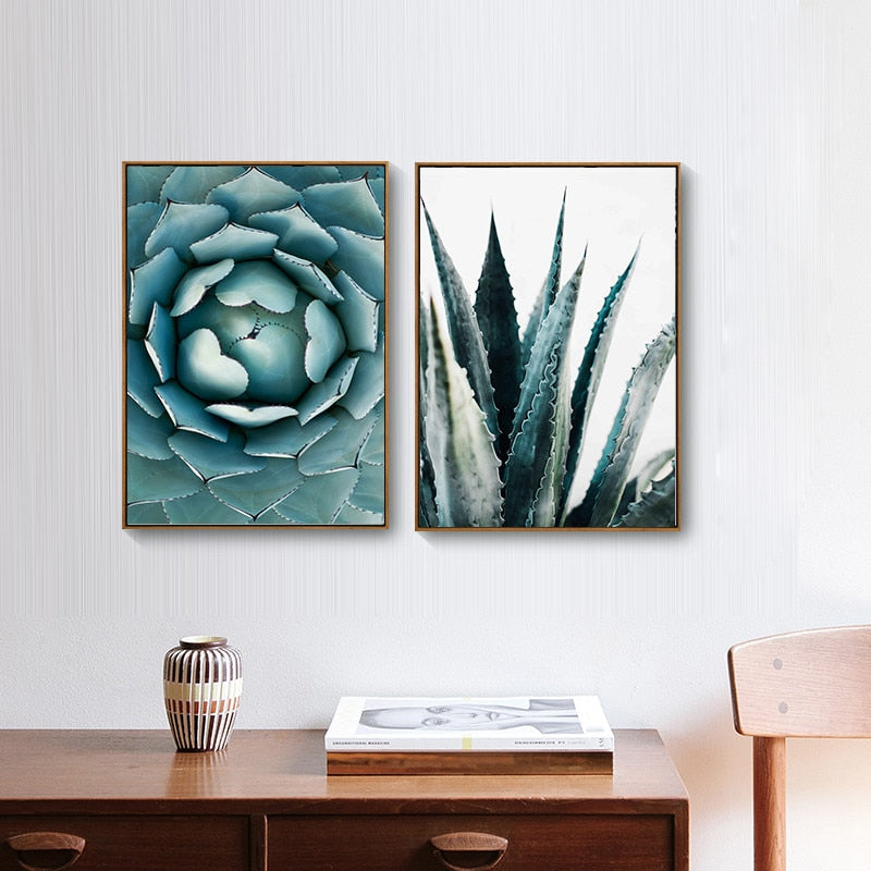 Succulent Canvas Wall Art