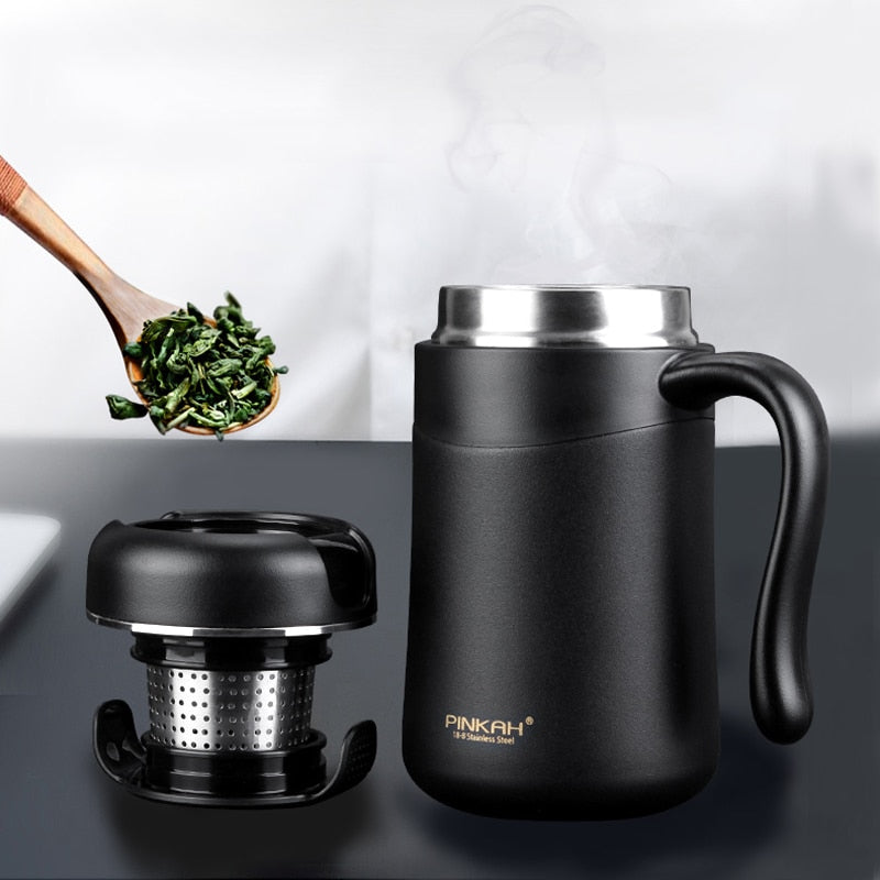 Portable Coffee/Tea Infuser Thermal Bottle