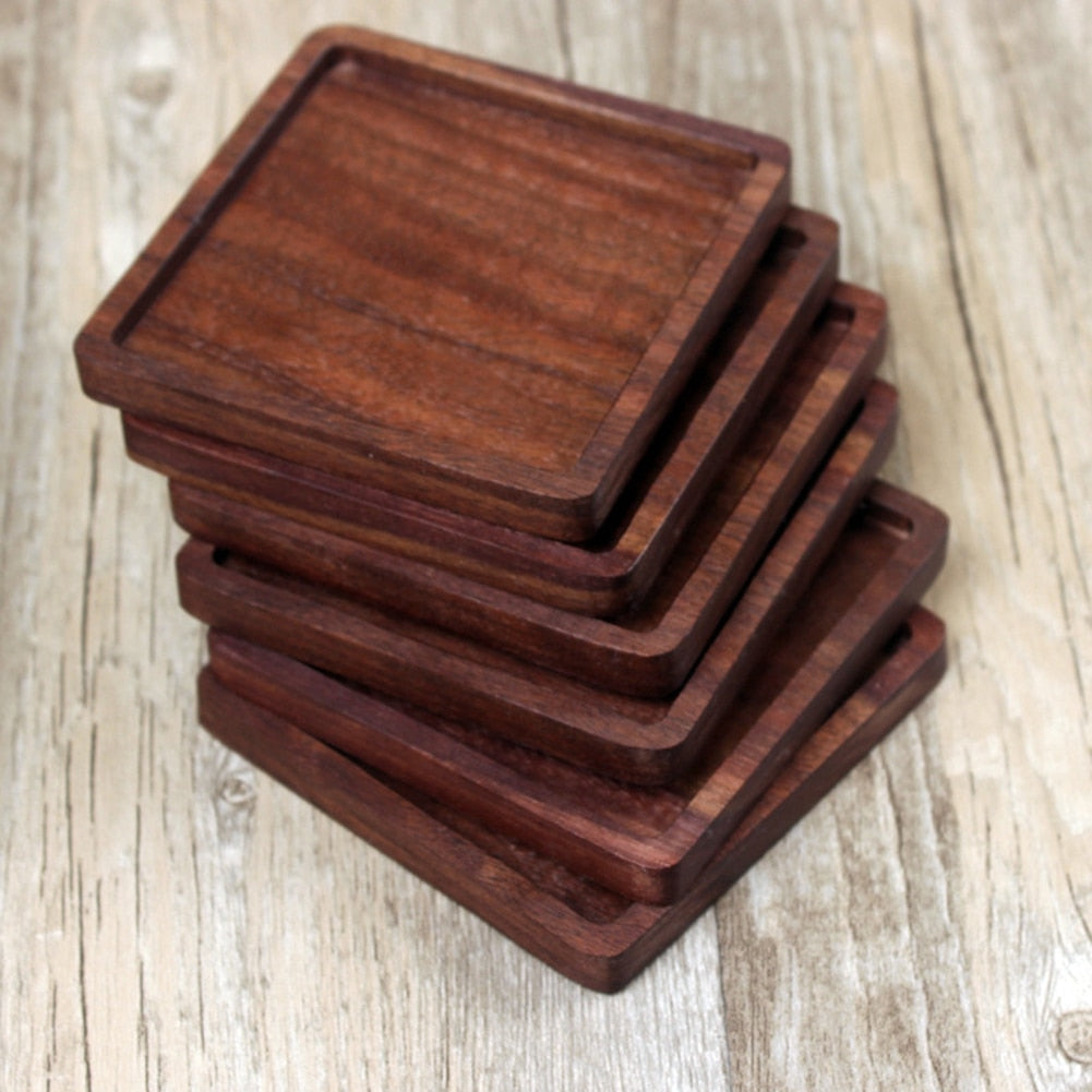 Walnut Wooden Cup Coaster