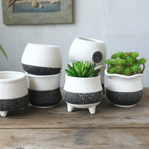 Ceramic Standing Succulent Pot Collection
