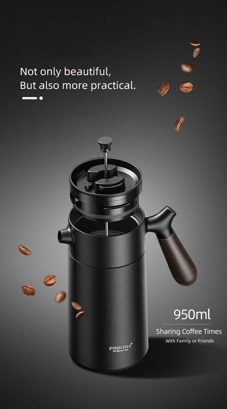 Modern Stainless Steel Thermos French Press