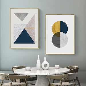 Modern Minimalist Geometric Canvas Wall Art