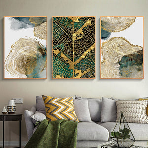 Leaf and Trunk Wall Canvas Art