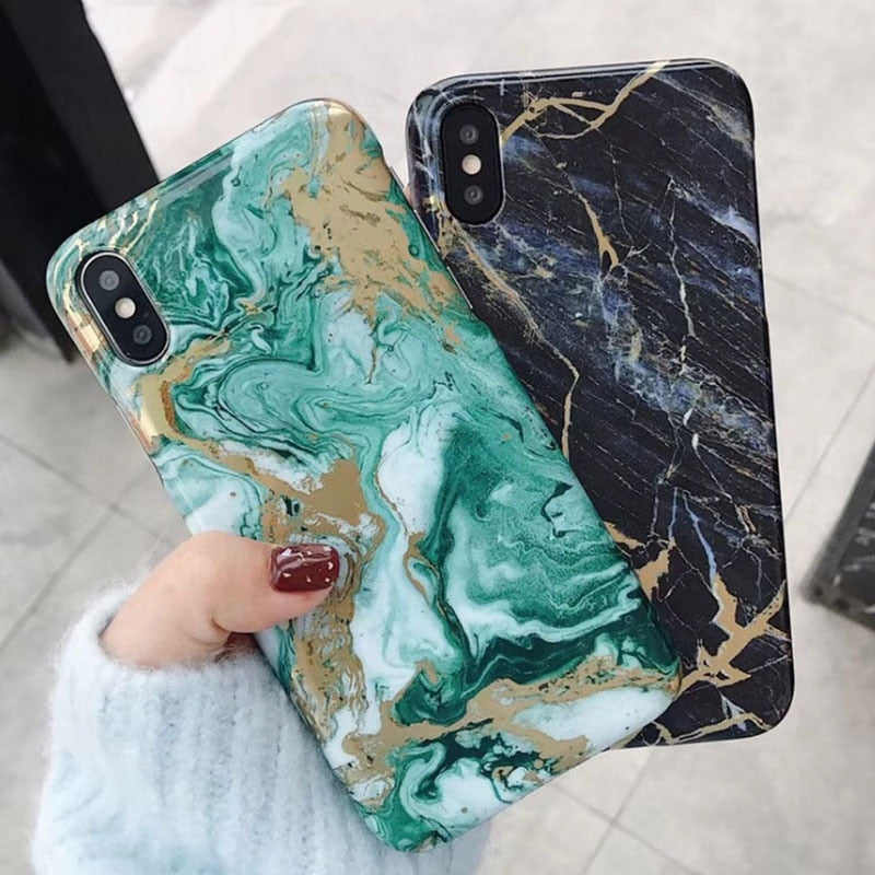 Gold-Touch Marble iPhone Case