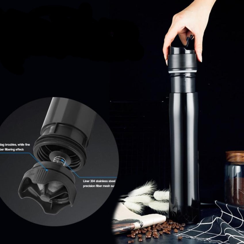 Portable French Press Thermos Bottle