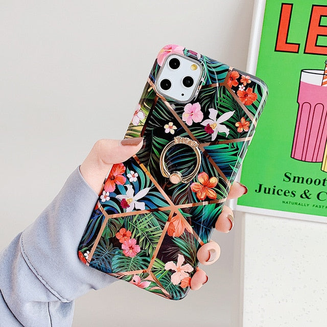 Geometric Floral iPhone Case