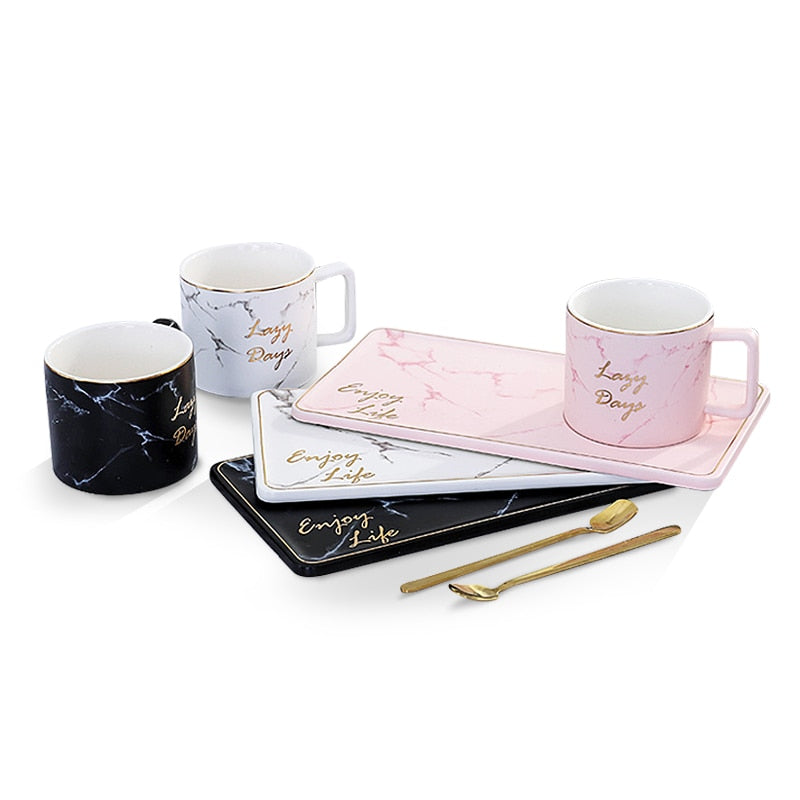 Marble Gold Coffee Cup Set Collection