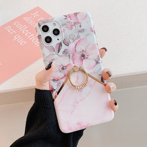 Floral Marble iPhone Case