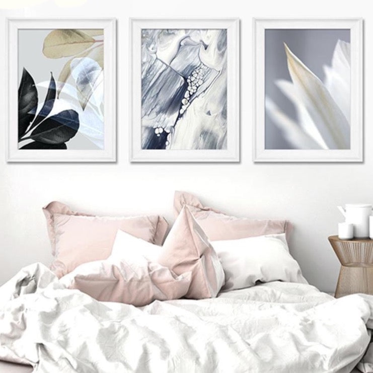 Abstract Nordic Botanical Canvas Wall Art