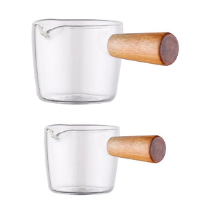 Wooden Handle Condiment Glass