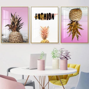 Modern Leafy Succulent Canvas Wall Art
