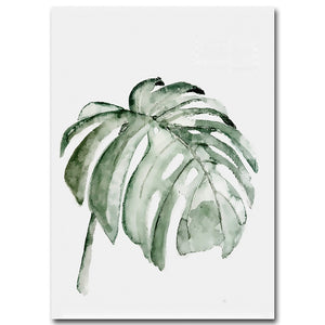 Nordic Leafy Canvas Wall Art