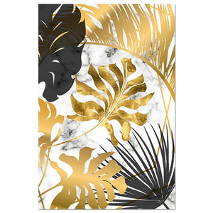 Gold Botanical Canvas Wall Art